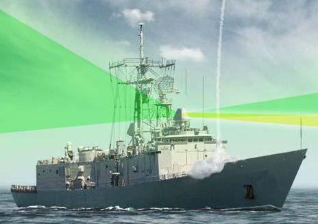 派里級更換兩座SPY-5雷達的示意圖,分別取代原有的MK-92 CAS天線與STIR照明雷達