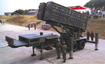 臺灣天弓防空導彈四聯裝發射架