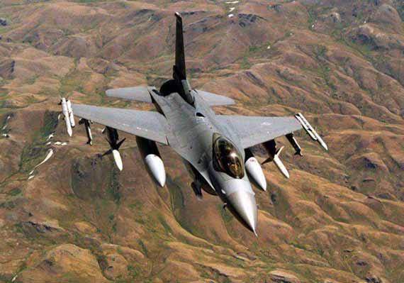 """執行反輻射任務的F-16CJ""""野鼬鼠""""戰機"""
