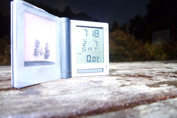 七點多就零度了…最低溫聽說是零下六度@@