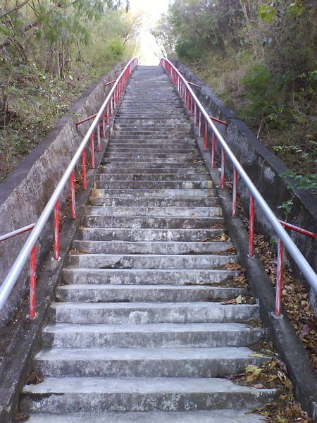 四重溪泡溫泉前要運動一下~石門古戰場前階梯
