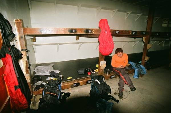 聽說比起其它山屋這裡有睡墊算很好了