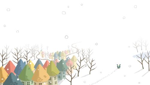 雪花翩翩飛舞
