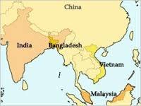 「india vietnam map」的圖片搜尋結果