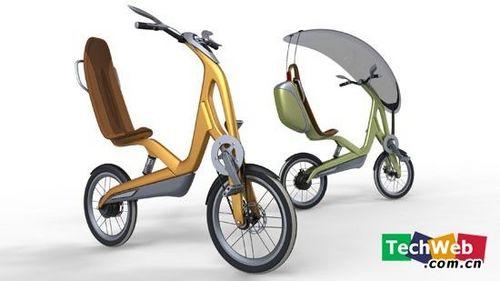 裝有擋風玻璃的電動自行車
