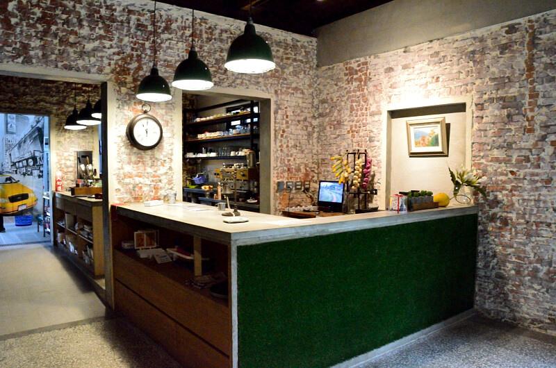 宜蘭 冬山 屋頂庭園咖啡 櫃台