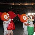 全運會吉祥物聖火寶寶、風兒寶寶和松鼠寶寶閃光閃不停