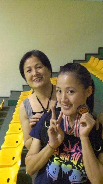 吳佳儒選手與母親