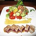 鮪魚生魚片沙拉