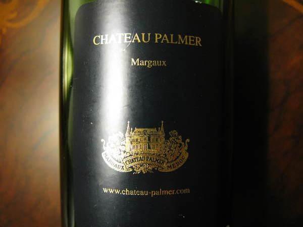 Palmer 的背面酒標