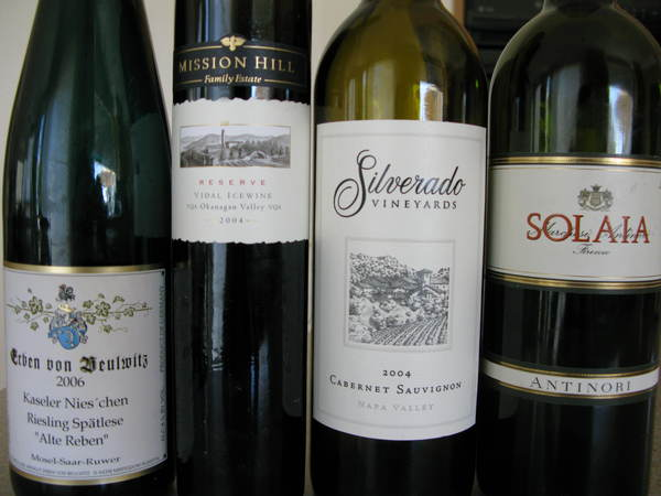 Riesling & Mission Hill Ice Wine & Silverado & Solaia