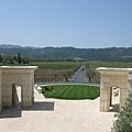 Opus One 從二樓眺望出去看整片葡萄園
