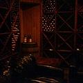 Monticello Wine-Tasting Room: small part of wine cellar