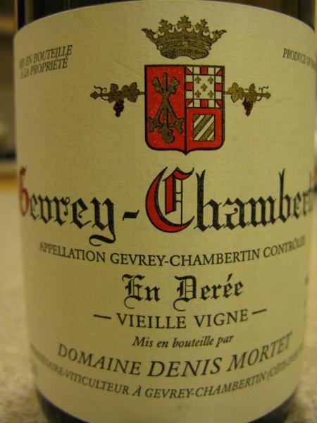 Denis Mortet, Gevrey-Chambertin, En Deree, Vieilles Vignes