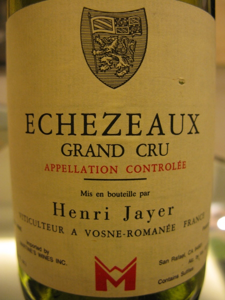 1986 Henri Jayer Echezeaux