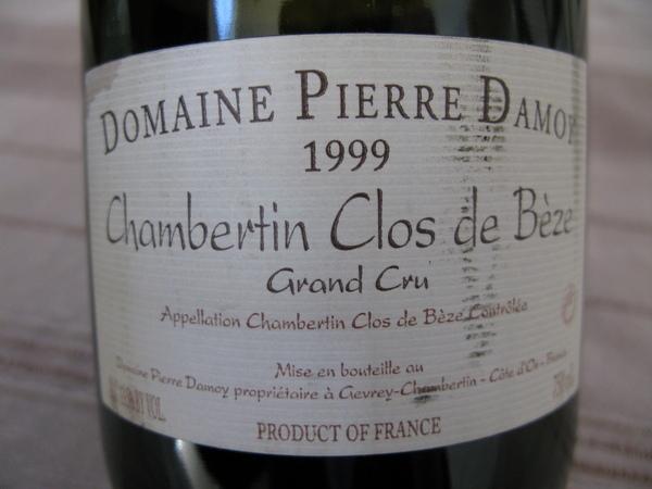 1999 Chambertin Clos de Beze, Domaine Pierre Damoy