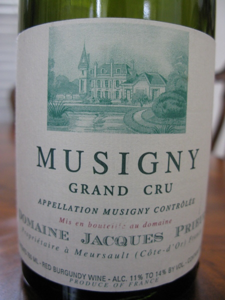 1998 Musigny, Jacques Prieur