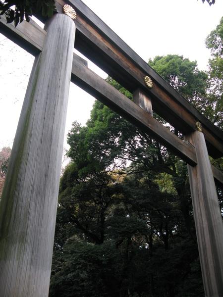 明治神宮的鳥居