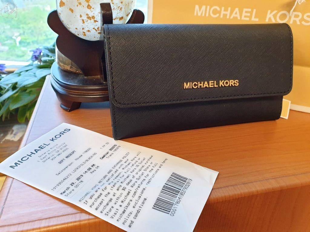 MICHAEL KORS Jet Set 防刮皮革翻蓋長夾 (1)