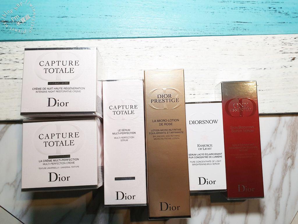 Dior預購日清單 逆時完美再造精華。雪晶靈透亮光采精華乳。極效賦活精萃。逆時完美再造乳霜(一般型)。精萃再生微導青春凝露 (1)