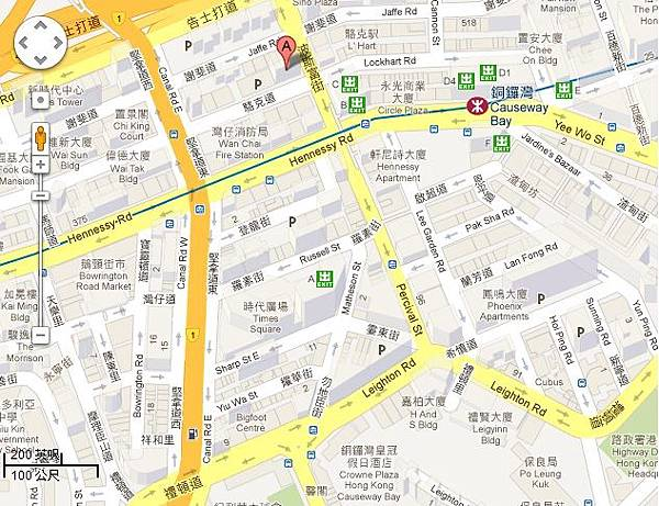 銅鑼灣太湖海鮮城地圖