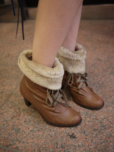 2way毛毛短靴