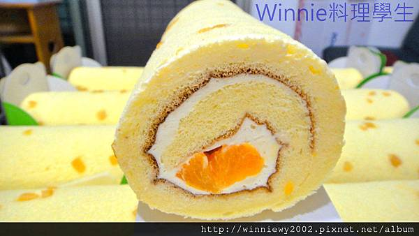 鮮橙卡士達蛋糕卷1