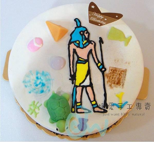 埃及壁畫彩繪蛋糕2