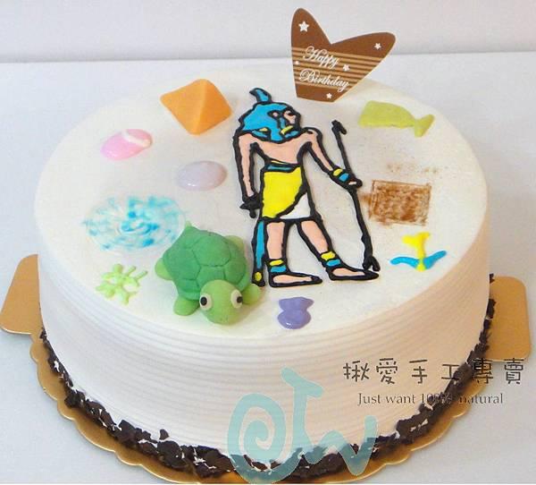 埃及壁畫彩繪蛋糕3