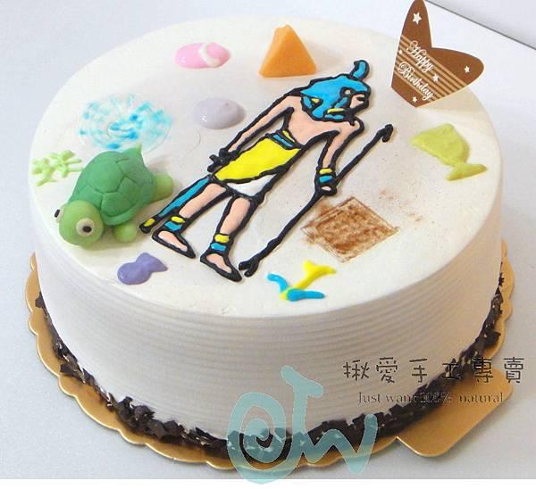 埃及壁畫彩繪蛋糕4