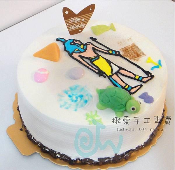 埃及壁畫彩繪蛋糕6