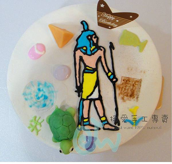 埃及壁畫彩繪蛋糕7