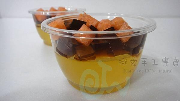 檸檬蜂蜜果凍佐黑糖果凍1