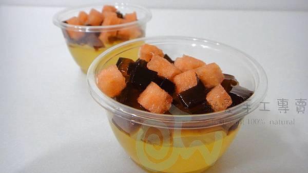 檸檬蜂蜜果凍佐黑糖果凍2