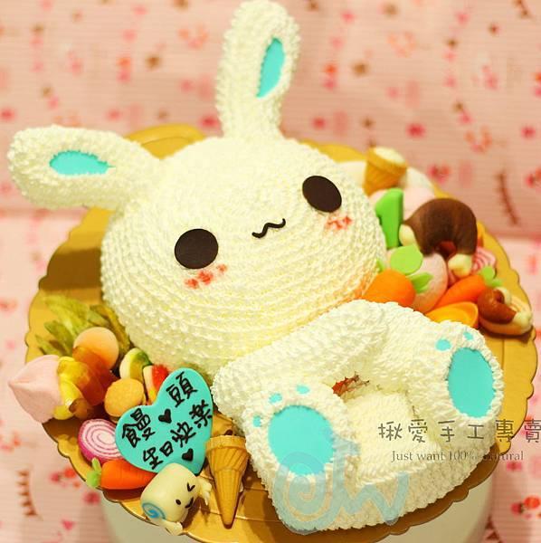 3D兔+雞腿-2a