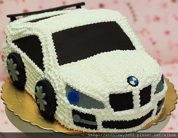 白色BMW X6擠花造型(顏色可自選)
