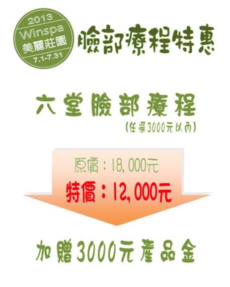 WIN SPA 2013.07特惠活動(臉部)