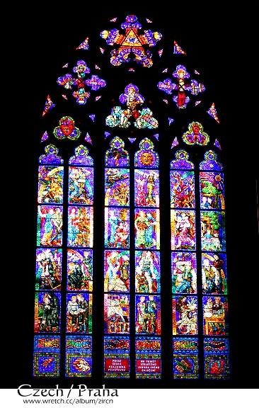 眩目的彩繪玻璃