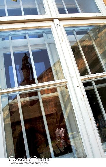 窗戶透視的查理士橋