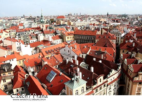 天文鐘上看Praha