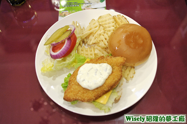 風味魚排漢堡