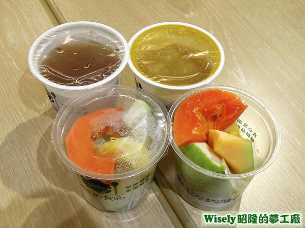 水果、冬瓜檸檬、芒果汁