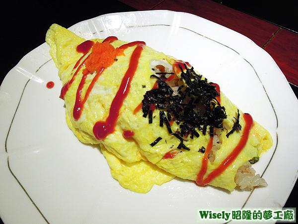 鮭魚蛋包飯