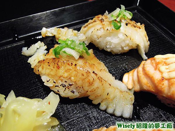 炙燒鰈魚鰭邊肉握壽司
