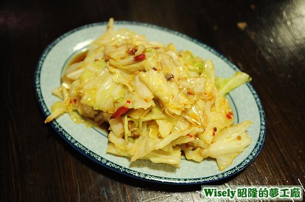 辣炒蠔油高麗菜