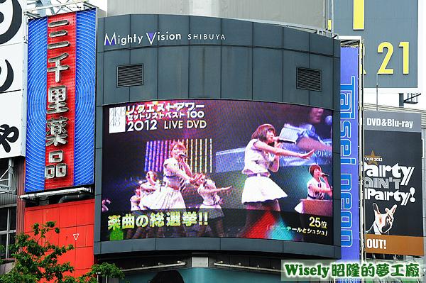 Mighty Vision電視牆(AKB48楽曲の総選拳!!)