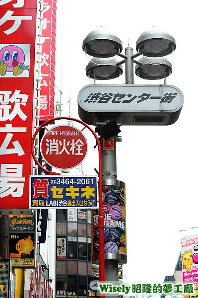 渋谷センター街路牌