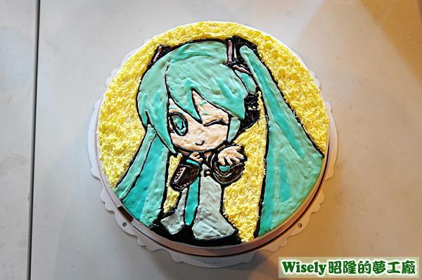 咕咕霍夫初音未來造型蛋糕