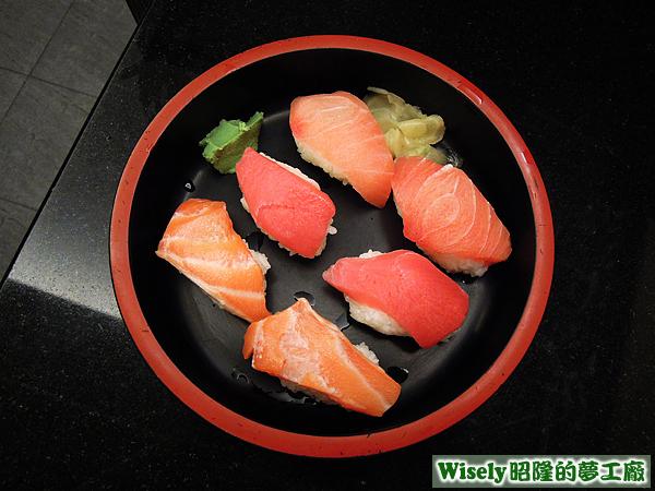 生魚片握壽司(鮭魚/鮪魚/旗魚)