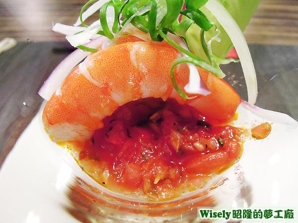 馬丁尼鳳尾白蝦